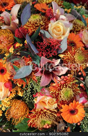 Autumn bouquet stock photo, Autumn colors in a mixed floral arrangement by Porto Sabbia
