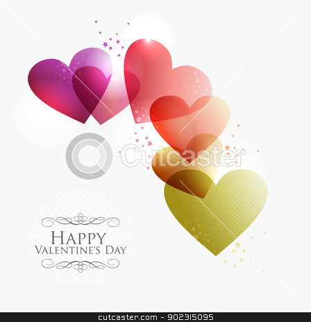 Valentine transparent hearts stock vector clipart, Valentine day transparent hearts background. EPS10 illustration with transparencies layered for easy manipulation and custom coloring. by Cienpies Design