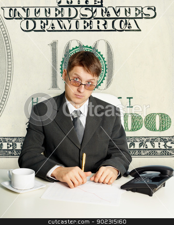 Customs officer of United States - collage stock photo, Clerk - an employee of U.S. Customs - a conceptual collage by Alexey Romanov