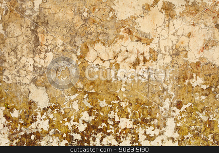 Nasty plaster on wall surface stock photo, Old dirty nasty plaster on the wall surface by Alexey Romanov