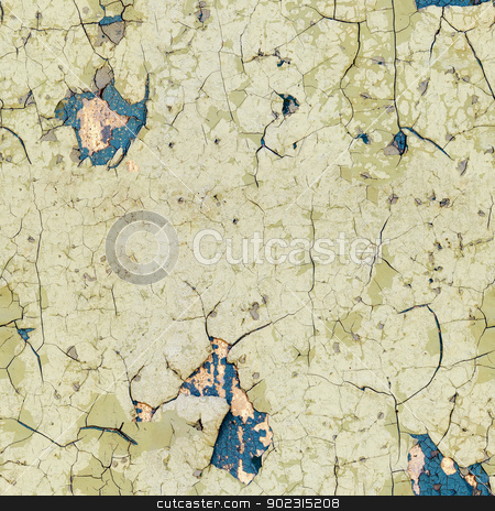 Seamless texture - half-rotten old wall stock photo, Seamless texture - half-rotten old enamel on the surface of the wall by Alexey Romanov