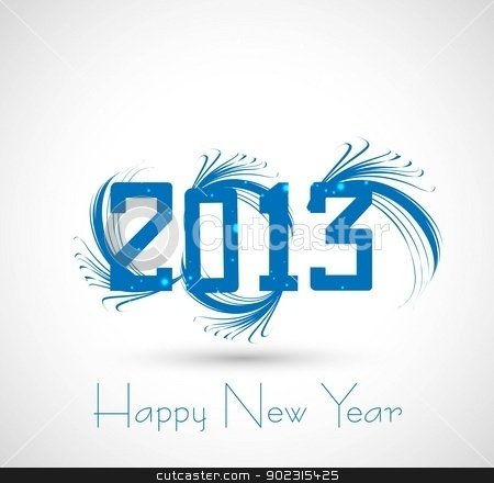 new year 2013  artistic vector whit background  stock vector clipart, new year 2013  artistic vector whit background  by bharat pandey