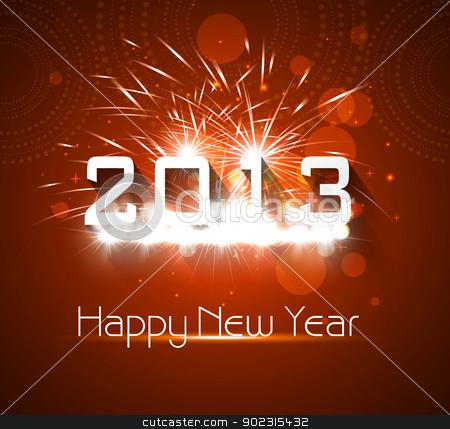Happy new year shiny 2013 colorful celebration vector  stock vector clipart, Happy new year shiny 2013 colorful celebration vector  by bharat pandey