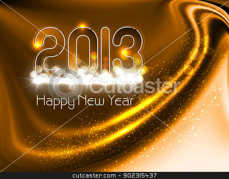 new year 2013 in glossy bright colorful background Vector illust stock vector clipart, new year 2013 in glossy bright colorful background Vector illustration by bharat pandey