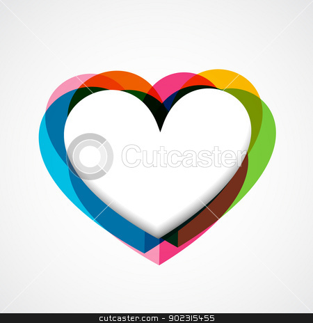 funky vector heart stock vector clipart, colorful funky vector heart design by pinnacleanimates