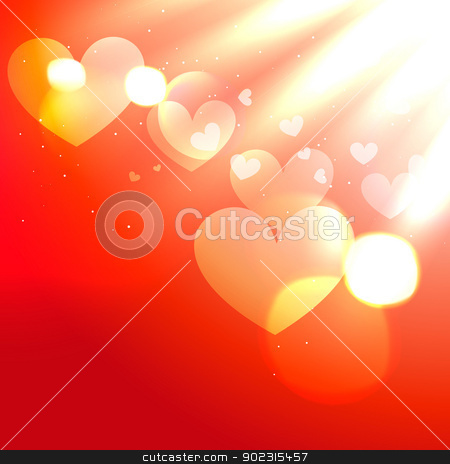 shiny red heart stock vector clipart, stylish shiny red heart background design by pinnacleanimates