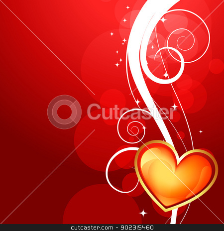 shiny valentine day background stock vector clipart, beautiful shiny vector heart valentine day background by pinnacleanimates