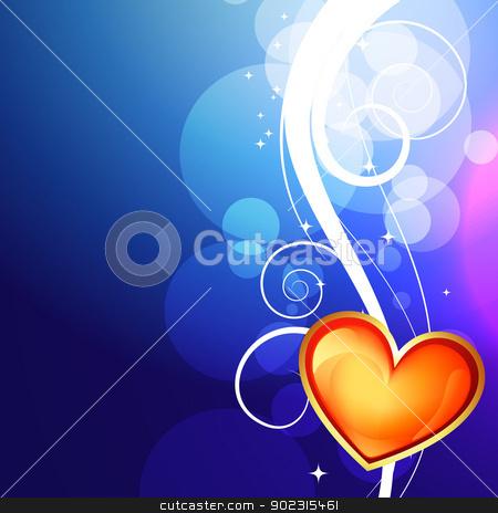 shiny valentine day background stock vector clipart, beautiful shiny valentine day background by pinnacleanimates