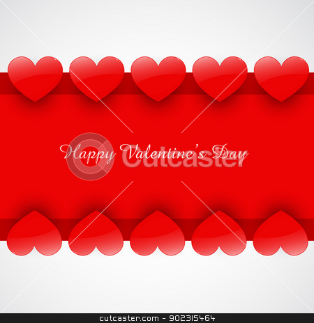 heart background stock vector clipart, stylish shiny heart background with space for your text by pinnacleanimates
