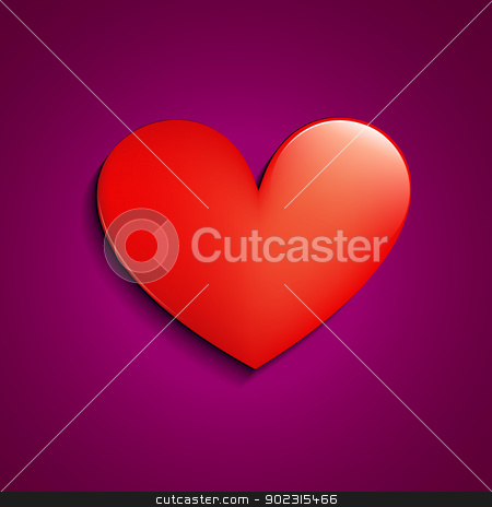 vector heart stock vector clipart, stylish simple vector red heart design by pinnacleanimates