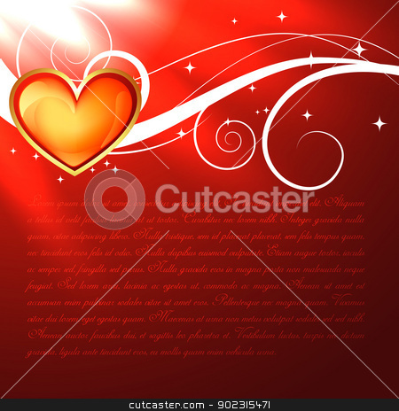 beautiful red heart stock vector clipart, vector illustration of beautiful red heart by pinnacleanimates