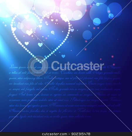 vector heart stock vector clipart, shiny glowing vector heart design by pinnacleanimates
