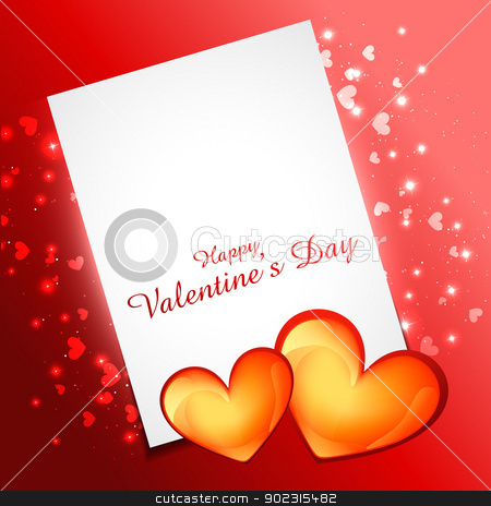 valentine day heart stock vector clipart, beautiful valentine day heart design with space for your text by pinnacleanimates