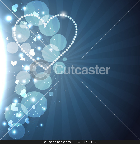 heart background design stock vector clipart, beautiful shiny heart background design illustration by pinnacleanimates