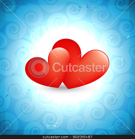 heart background stock vector clipart, stylish valentine day heart background design by pinnacleanimates