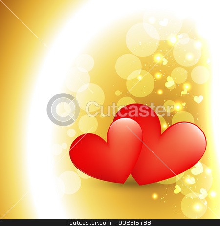 heart background stock vector clipart, beautiful heart design in golden background by pinnacleanimates