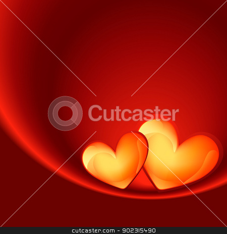 love background stock vector clipart, shiny love heart background with space for your text by pinnacleanimates