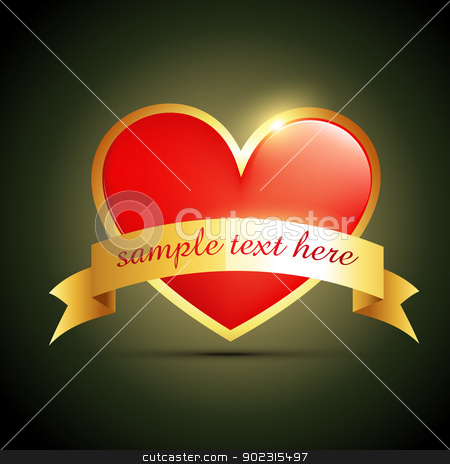 label heart design stock vector clipart, vector heart label design with space for your text by pinnacleanimates