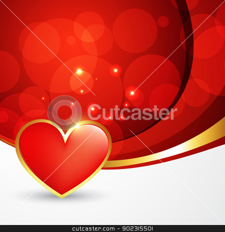 heart background design stock vector clipart, stylish heart background with space for your text by pinnacleanimates