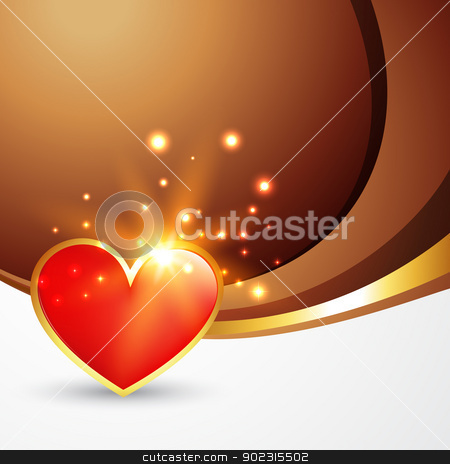 valentine day heart stock vector clipart, vector valentine day heart design with space for your text by pinnacleanimates
