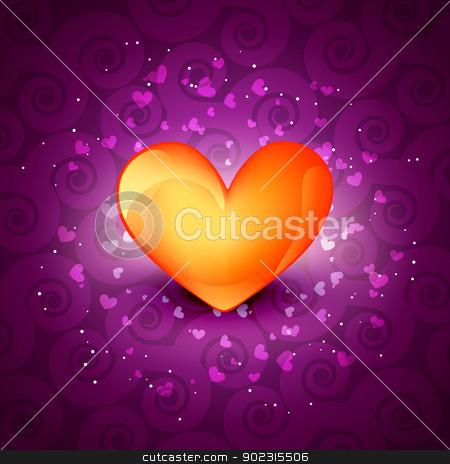 shiny vector heart stock vector clipart, beautiful shiny vector heart design by pinnacleanimates