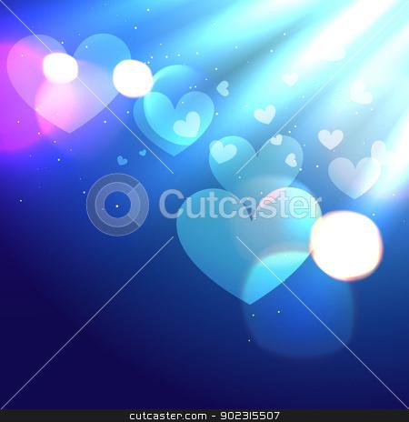 vector heart design stock vector clipart, stylish vector heart design background by pinnacleanimates