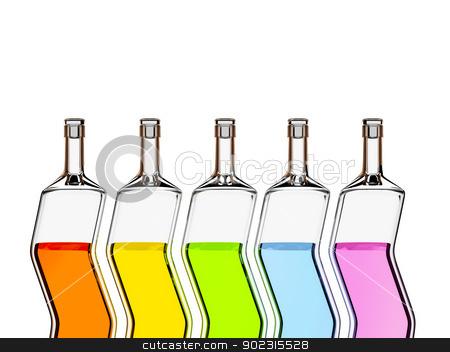 five color bottles stock photo, An image of five stylish color bottles by Markus Gann