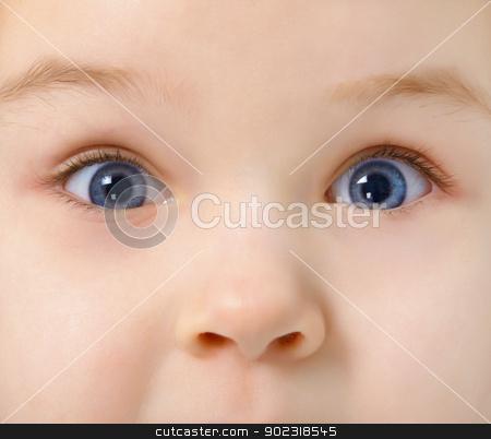 Eyes of child full of interest stock photo, Eyes of the child full of interest close up by Alexey Romanov