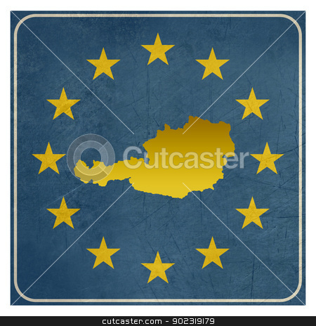 Austria European sign stock photo, Austria European sign isolated on white background with copy space.  by Martin Crowdy