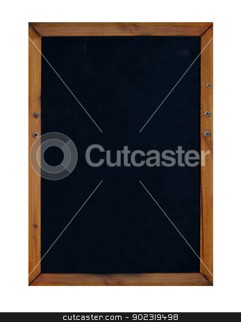 Blank blackboard or chalkboard stock photo, Blank blackboard or chalkboard isolated on white background with copy space. by Martin Crowdy