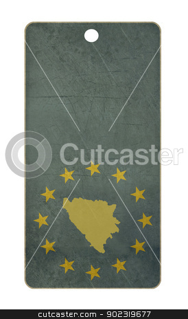 Bosnia and Herzegovina travel tag stock photo, Bosnia and Herzegovina travel tag isolated on white background with copy space.  by Martin Crowdy