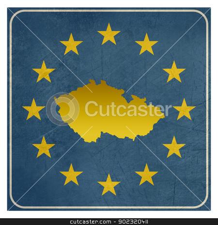 Czech Republic European sign stock photo, Czech Republic European sign isolated on white background with copy space.  by Martin Crowdy