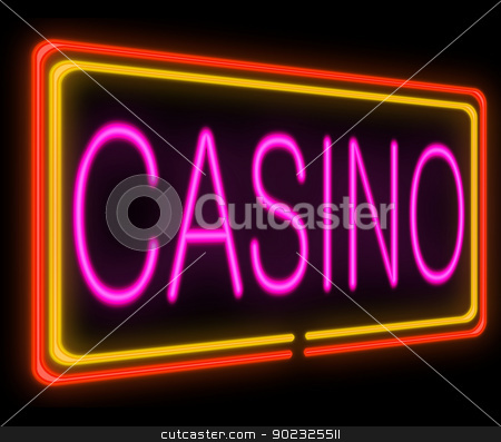 Casino concept. stock photo, Illustration depicting a neon signage with a casino concept. by Samantha Craddock