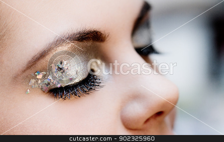 close-up woman portrait stock photo, close-up portrait of beautiful caucasian young woman by Nneirda