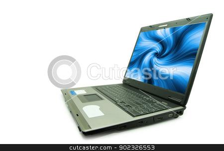 laptop stock photo, Notebook personal computer on white background by Vitaliy Pakhnyushchyy