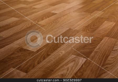 Brown laminate stock photo, The floor of the light brown laminate diagonally by Olga Altunina