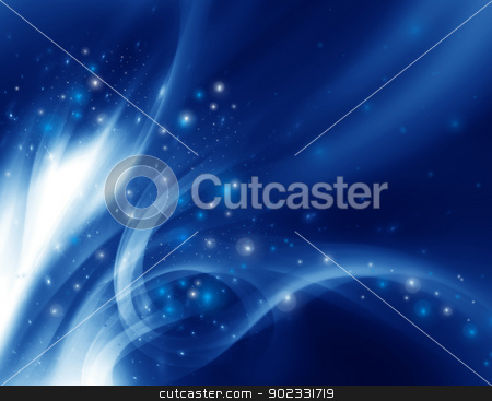 Abstract modern background stock photo, Abstract modern background with blue waves by Olga Altunina