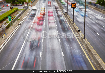 Road traffic on streets stock photo, Road traffic on the streets of the modern metropolis by Alexey Romanov
