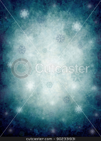 Background With Snowflakes stock photo, Blue And White hristmas Background With Snowflakes  by Olga Altunina