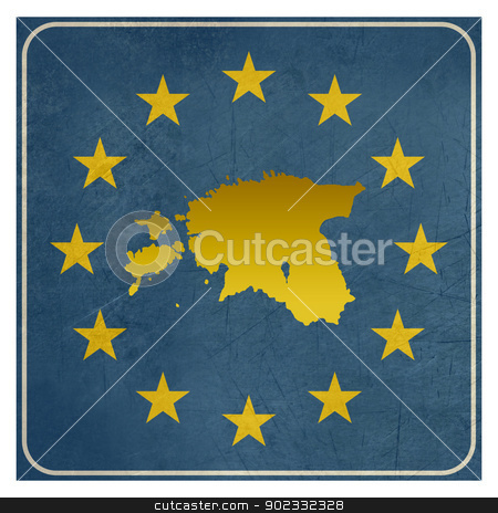 Estonia European sign stock photo, Estonia European sign isolated on white background with copy space.  by Martin Crowdy