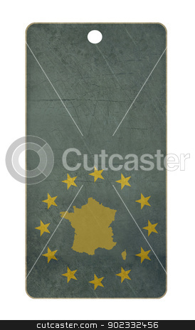 France travel tag stock photo, France travel tag isolated on white background with copy space.  by Martin Crowdy