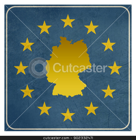 Germany European sign stock photo, Germany European sign isolated on white background.  by Martin Crowdy