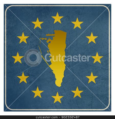 Gibraltar European sign stock photo, Gibraltar European sign isolated on white background.  by Martin Crowdy