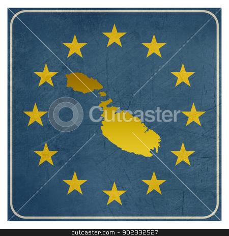 Malta European sign stock photo, Malta European sign isolated on white background.  by Martin Crowdy