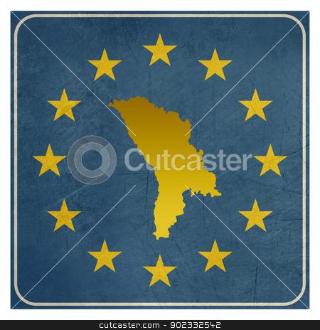 Moldova European sign stock photo, Moldova European sign isolated on white background.  by Martin Crowdy