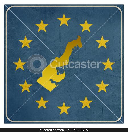Monaco European sign stock photo, Monaco European sign isolated on white background.  by Martin Crowdy