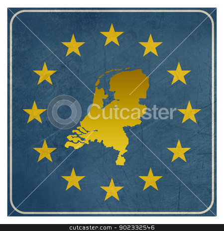 Netherlands European sign stock photo, Netherlands European sign isolated on white background.  by Martin Crowdy