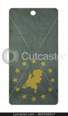 Netherlands travel tag stock photo, Netherlands travel tag isolated on white background with copy space.  by Martin Crowdy
