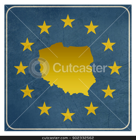 Poland European sign stock photo, Poland European sign isolated on white background with copy space.  by Martin Crowdy