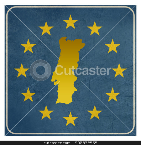 Portugal European sign stock photo, Portugal European sign isolated on white background.   by Martin Crowdy